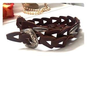 Vintage CAPEZIO genuine leather concho belt S/M